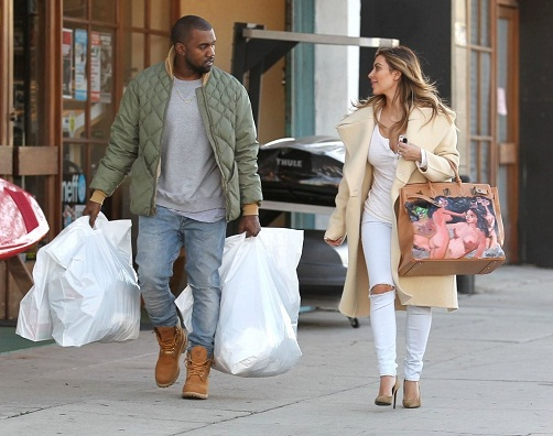 kim-kardashian-los-angeles-celine-coat-saint-laurent-pumps-hermes-george-condo-birkin-2