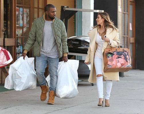 kim-kardashian-los-angeles-celine-coat-saint-laurent-pumps-hermes-george-condo-birkin-2