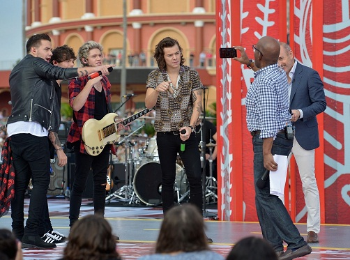 "One Direction Celebrate The Release Of Album ""Four"" On NBC Today Show"