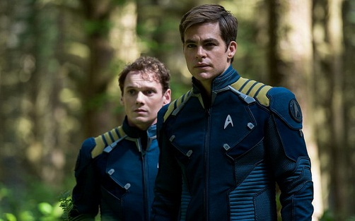 Left to right: Anton Yelchin plays Chekov and Chris Pine plays Kirk in Star Trek Beyond from Paramount Pictures, Skydance, Bad Robot, Sneaky Shark and Perfect Storm Entertainment