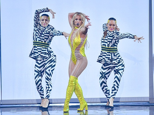 NEW YORK, NY - AUGUST 28: Britney Spears performs onstage during the 2016 MTV Video Music Awards at Madison Square Garden on August 28, 2016 in New York City.  (Photo by Theo Wargo/MTV1617/Getty Images for MTV)